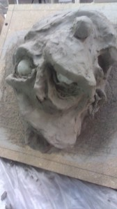 Raw sculpt (right)