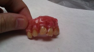 Final painted dentures