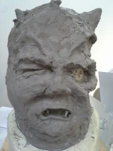 Rough sculpt (front)