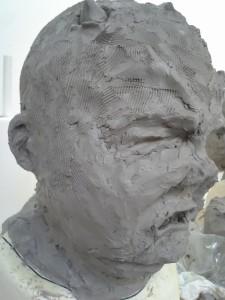 Rough sculpt (left)