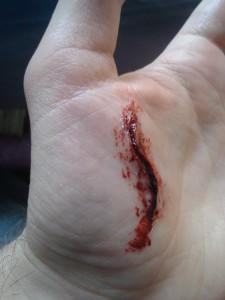 Hand cut (wax)