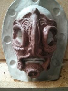 Mid-sculpt - front